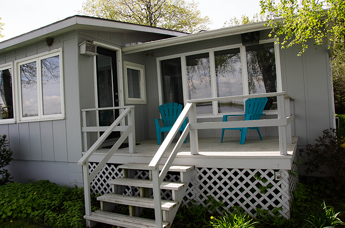 Prince edward county cottage rental deck