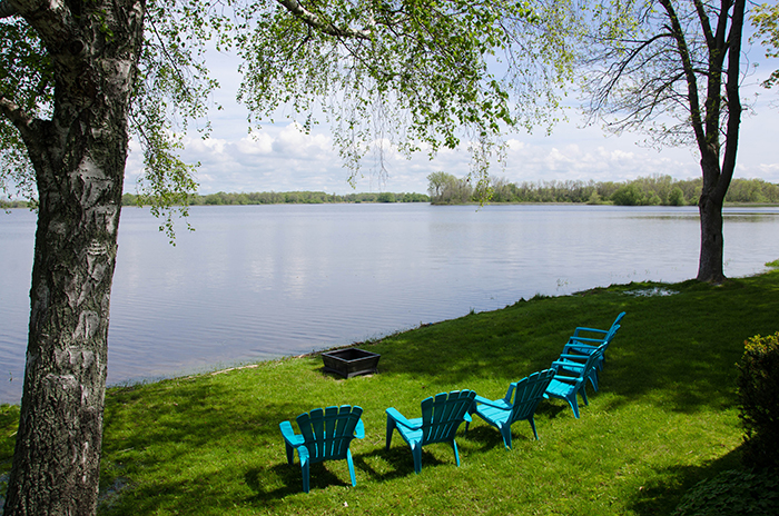Prince edward county cottage rental waterfront view