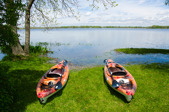 Prince edward county cottage rental kayaks