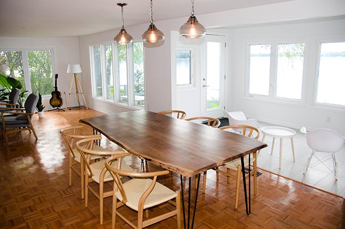 Prince edward county cottage rental dining room