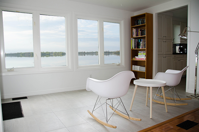 Prince edward county cottage rental sunroom